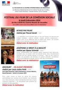 Programme Festival du Film de la Cohésion Sociale