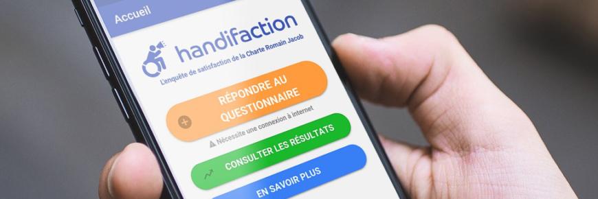 Lancement de l'application Handifaction pour smartphones